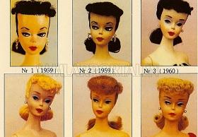 Gamla Barbiedockor